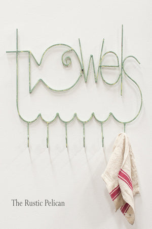 Nautical-Wall Decor-Towel Rack-Metal-Fish