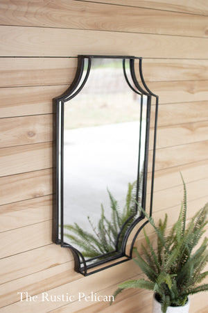 Modern Farmhouse Framed Rectangular Wall Mirror