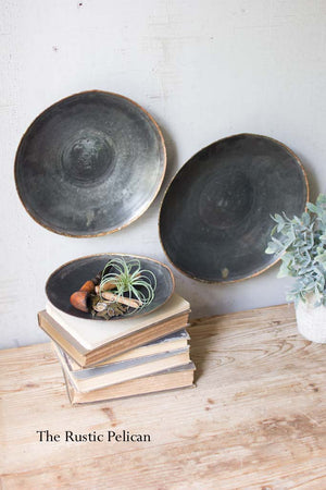 Modern Antique Black Copper Platters