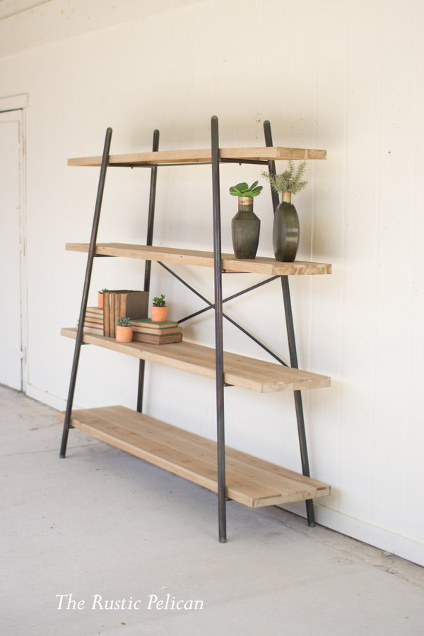 FREE SHIPPING - Wood and Metal Farmhouse Display Shelves