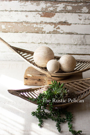 Rustic Farmhouse Bamboo Wooden Baskets