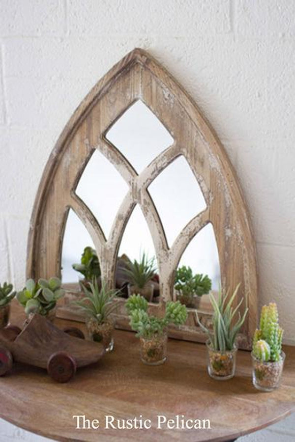 FREE SHIPPING - Mirror - Wooden Church Mirror