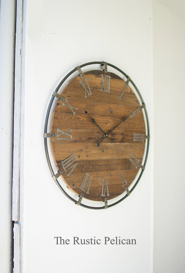 large wall clocks- Wall Decor, Rustic, oversized wall clock