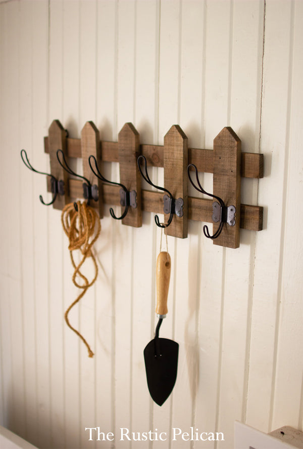 Wood-Coat Rack-Modern Farmhouse-Rustic-Coat Hanger-Free Shipping