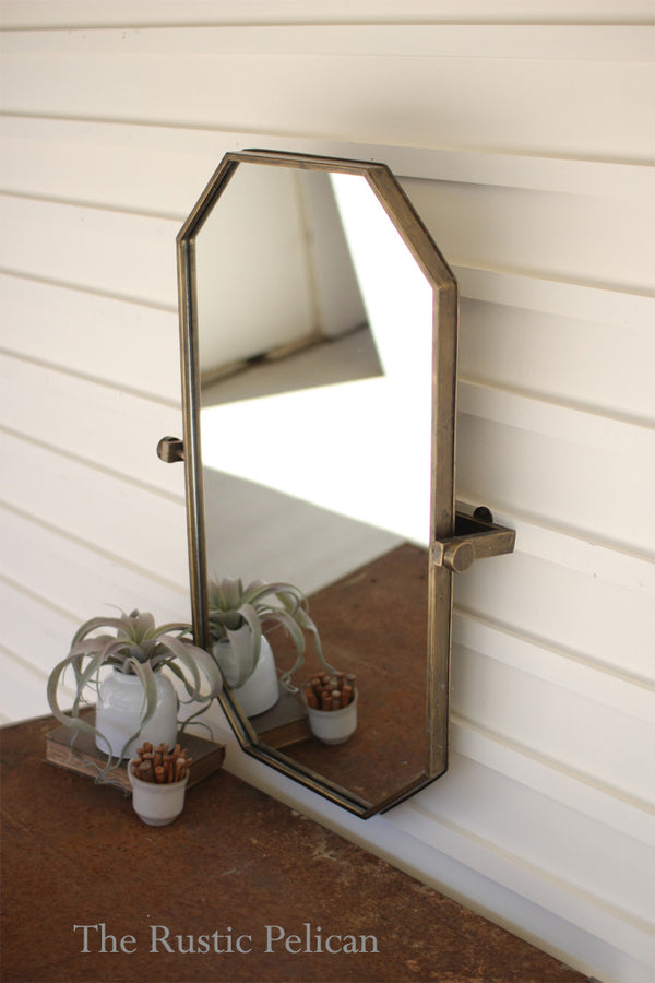 FREE SHIPPING - Rectangular Wall Mirror with adjustable bracket