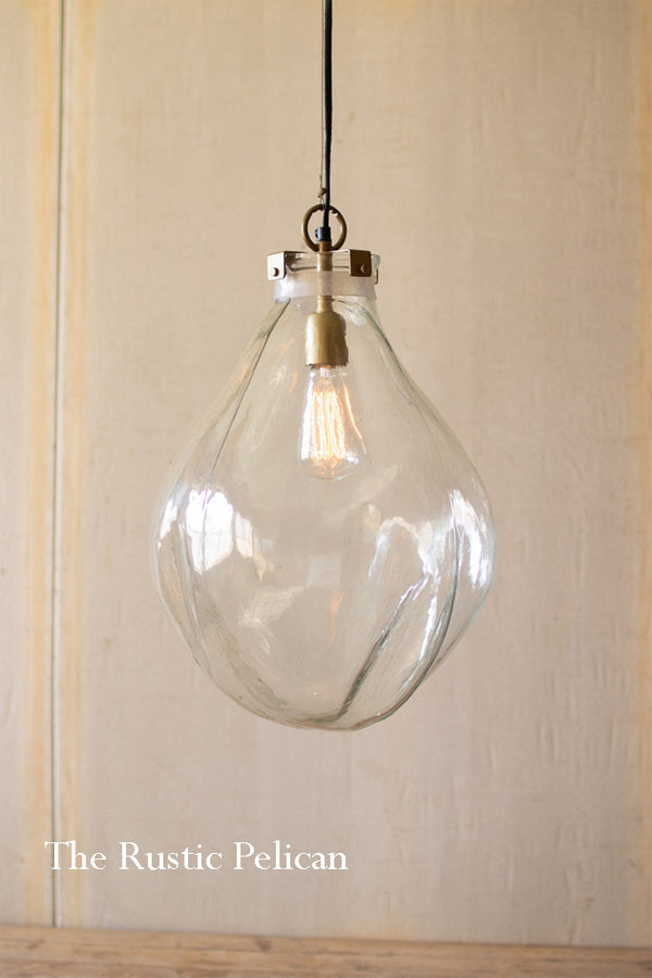 Modern Farmhouse-Glass Teardrop Chandelier