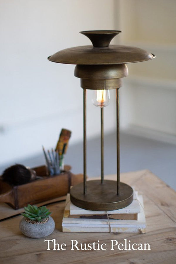 FREE SHIPPING ~Modern Farmhouse Industrial Metal Table Lamp