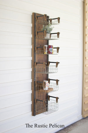 Wall Decor - Shelves - Wall Shelf - Organizer - Rustic - Wood