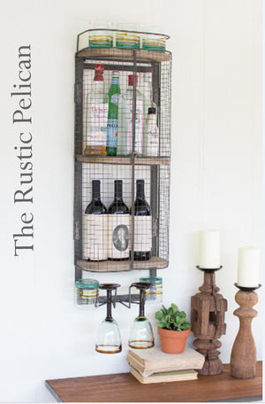 Rustic Bar cabinet reclaimed wood and metal mini bar
