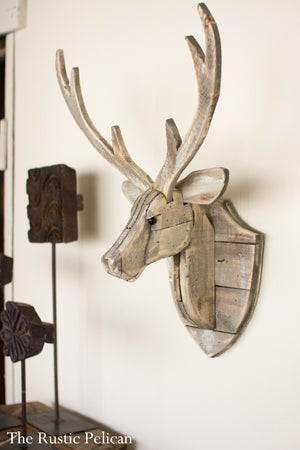 Reclaimed Wood wall decor deer head