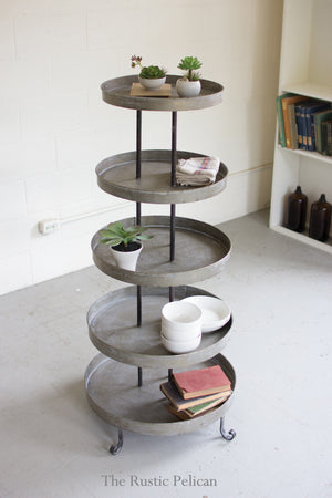 Rustic tiered stand or wedding cake tower or cupcake stand
