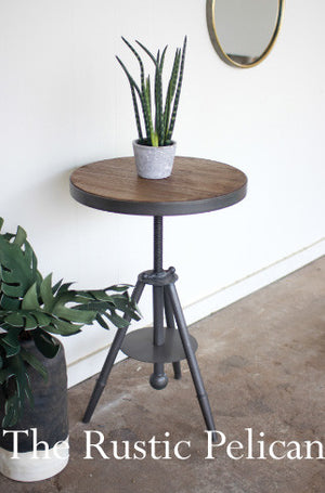 wooden table modern rustic furniture wood metal end table
