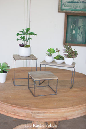 Plant stand dessert stand wood rustic wedding stands