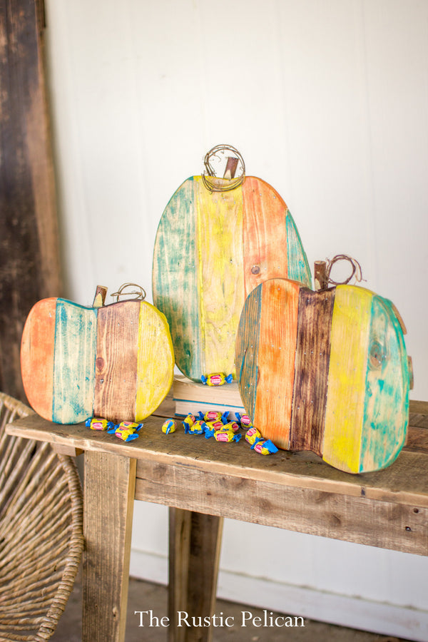 Rustic Holiday Decor, Reclaimed Wood Pumpkins