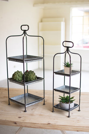 Rustic Modern Farmhouse galvanized Metal Square Display Stand