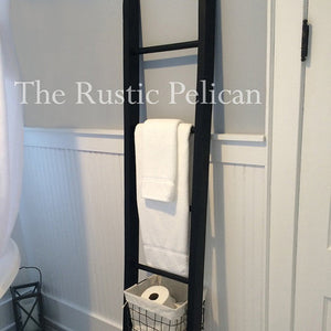 Wood Ladder- Bathroom Ladder -Towel Ladder-Farmhouse Ladder