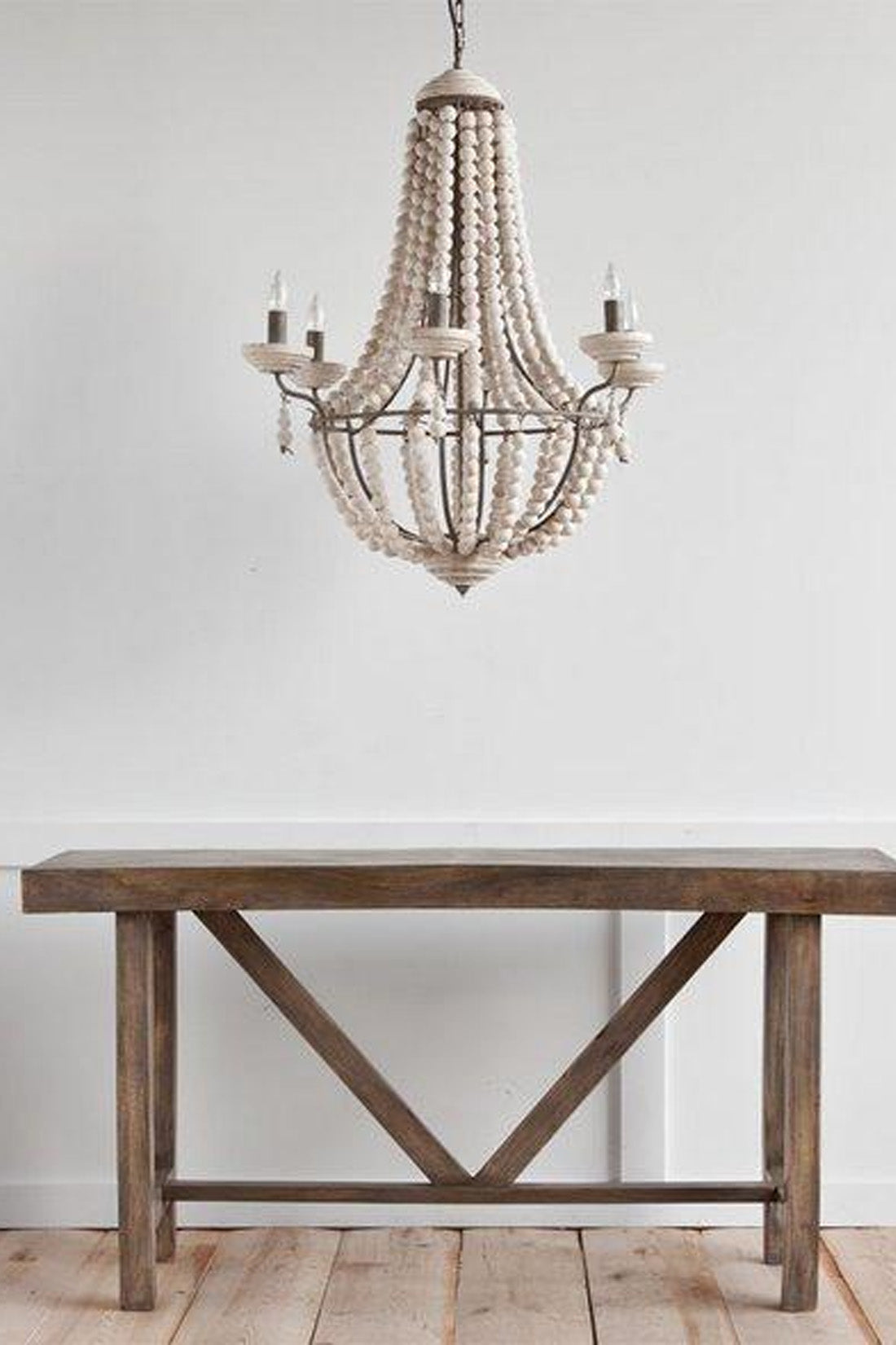 ... Modern Rustic Chandelier With Wood Beads Free Shipping ...
