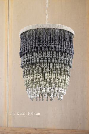 Large Modern Bohemian  Beaded Chandelier