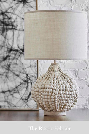 Modern Bohemian Beaded Designer Table Lamp