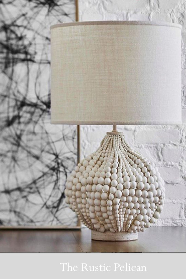 FREE SHIPPING - Modern Bohemian  Beaded Table Lamp