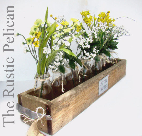 Rustic Farmhouse wooden Planter Box Garden Decor