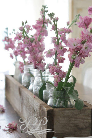 Handmade rustic farmhouse wooden planter Centerpiece