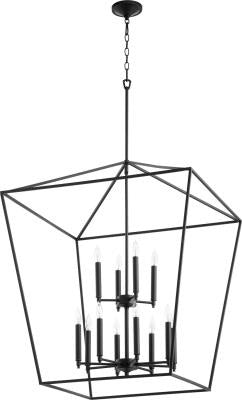 FREE SHIPPING - Large Entryway Chandelier 12 Light Black