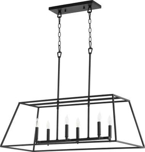 Large Modern Farmhouse Chandelier 6 Light Black Pendant Light