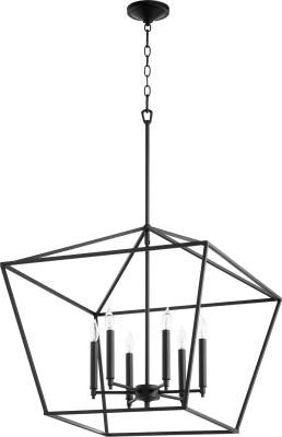 Large Modern Farmhouse Chandelier 6 Light Black