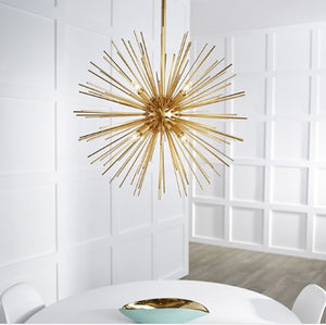 FREE SHIPPING - Large Modern Entryway Sphere Chandelier 10 Lights Aged Silver Leaf