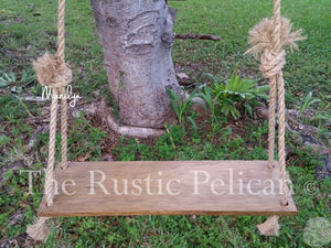 Rustic barnwood farmhouse swing