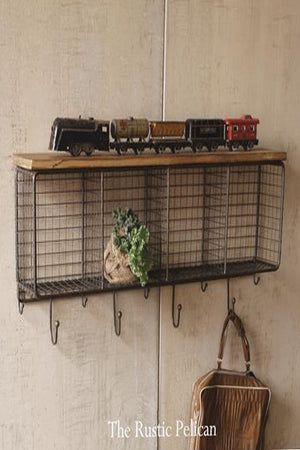 Industrial shelving, Rustic furniture. Farmhouse Metal Wood shelf