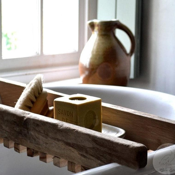 Bath Tray, Shower Caddy, Bathroom, Spa, Wood, Primitive, Free Shipping