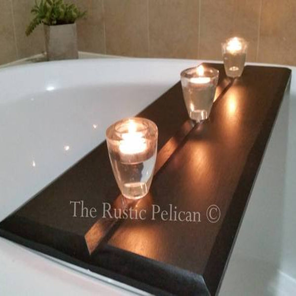 Modern rustic wood  Bath Tray
