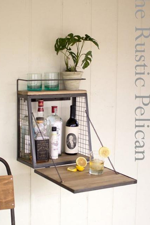 FREE SHIPPING - Rustic Bar, Industrial wall bar
