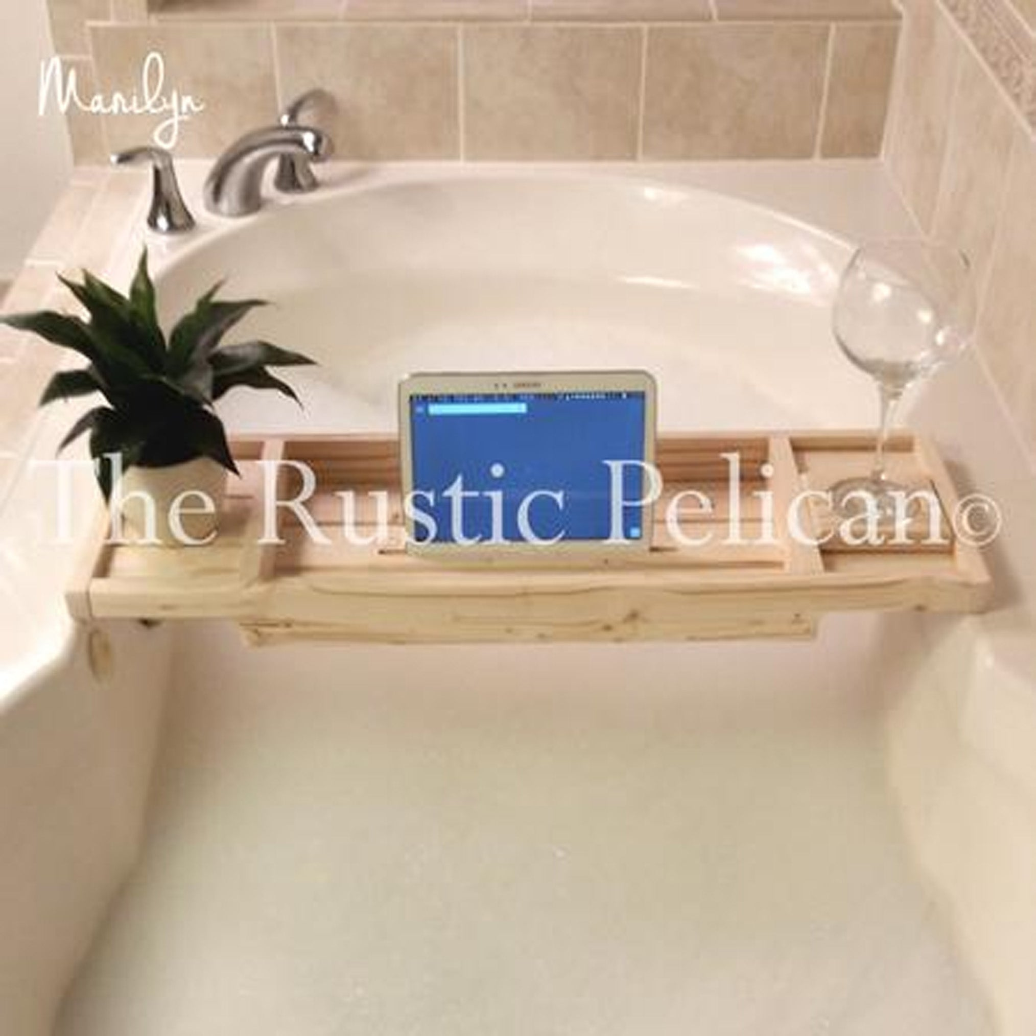 Bath Tray, Wood Tub Tray, Rustic Bathtub Tray, Bath Shelf, Spa, Bath ...