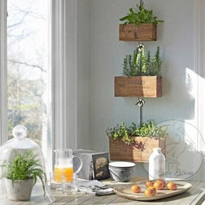 Rustic, reclaimed wood, style Hanging Planters, Kitchen Decor