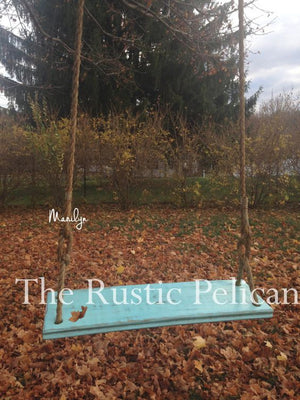 Rustic Farmhouse barn wood style tree swing children's gifts boys girls