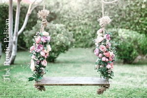 Rustic farmhouse barnwood style swing