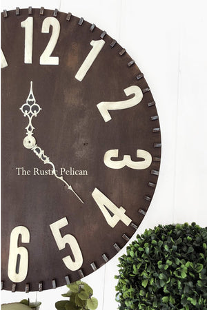 Clock, large wall clocks- Wall Decor, Rustic, oversized wall clock