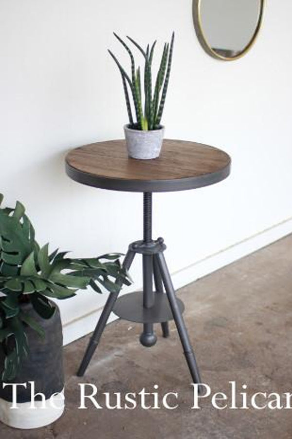 wooden table modern rustic furniture farmhouse metal end table
