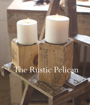 Candle holders-wood-candlestick-rustic-farmhouse-votive-candles