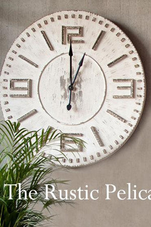 Clock - large wall clocks- Wall Decor, Rustic, oversized wall clock