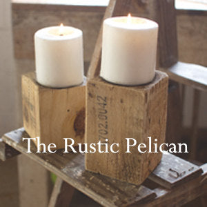 Candle Holders-Farmhouse-Wooden Candle Holders-Handcrafted