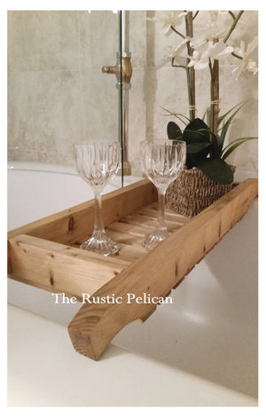 Rustic farmhouse Bathtub Tray, shower caddy