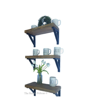 Floating shelves, primitive, farmhouse decor wall mounted shelves
