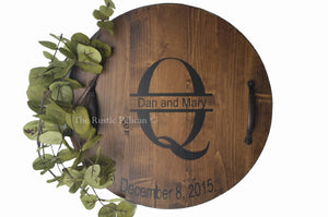 Personalized Wine Barrel, Lazy Susan