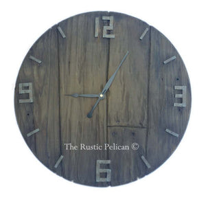 Farmhouse decor, Oversized wall clock, rustic home decor