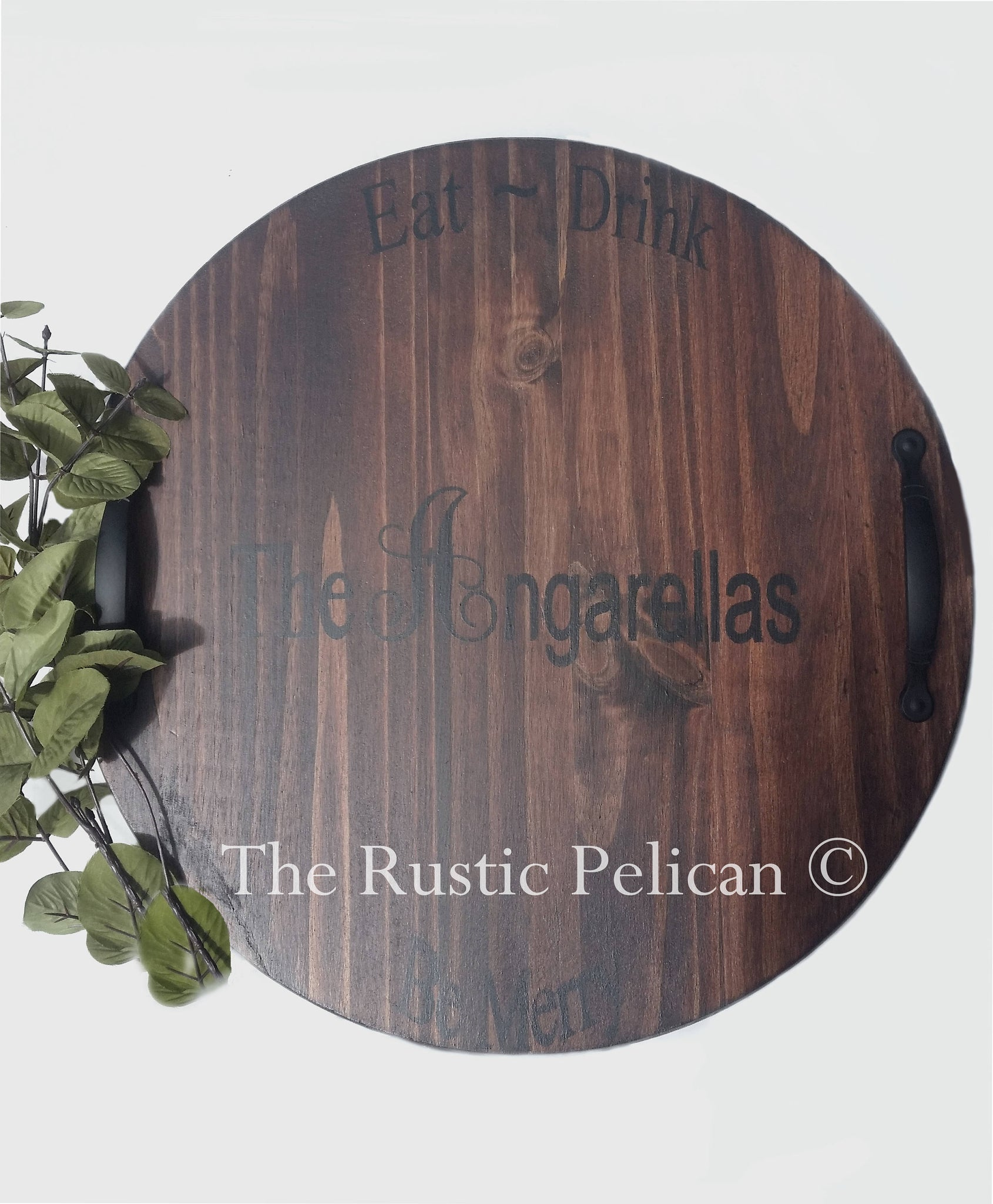 Rustic Wooden Wine Barrel Lazy Susan Personalized Wedding Gifts