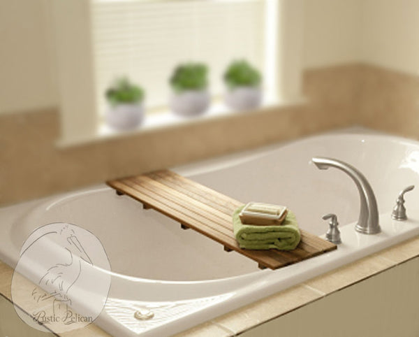 Bath Tray - Shower Caddy, Bathroom Storage, clawfoot tub tray